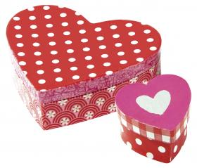 "42718 Avenue Mandarine Decopatch Craft ""Love"" Kit Heart Gift Boxes (2)"