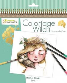 52566 AVM Collector's Coloring Book - Wild 3