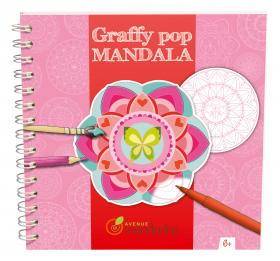 "GY027 Avenue Mandarine Graffy Pop Mandala ""Flowers"""