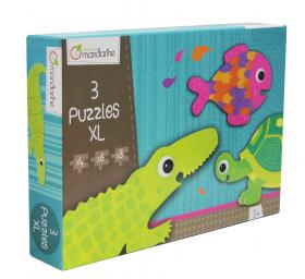 "42700 Avenue Mandarine Extra Large Puzzles ""Sea Animals"" side"