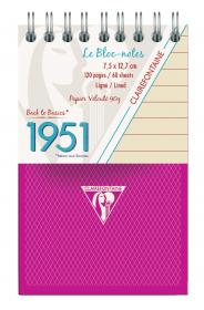 "195156 Clairefontaine Top Wirebound Notepads ""1951"" - Framboise"
