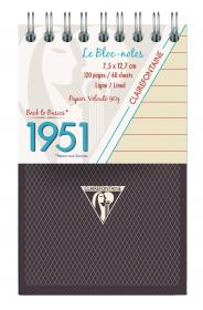 "195156 Clairefontaine Top Wirebound Notepads ""1951"" - Black"