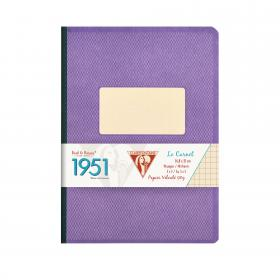 "195346 Clairefontaine Clothbound Notebook ""1951"" - iolet"