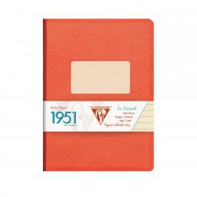 "195446 Clairefontaine Clothbound Notebook ""1951"" - Red Coral"