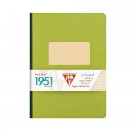 "195546 Clairefontaine Clothbound Notebook ""1951"" - reen"