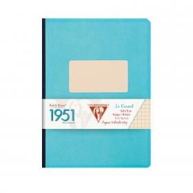 "195746 Clairefontaine Clothbound Notebook ""1951"" - urquoise"