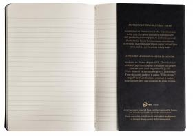 102536 Clairefontaine Flying Spirit Notebook - Black Cover (Open)