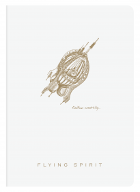 104536 Clairefontaine Flying Spirit Notebook - White Cover