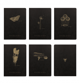 102536 Clairefontaine Flying Spirit Notebooks - Black Covers