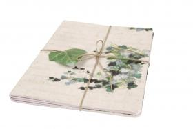115501 Clairefontaine Hedera Helix Staplebound Notebooks - Sewn on Spine - Set of 3 (Ambiance)