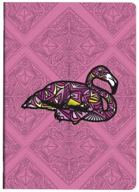 812645 Clairefontaine Sauvage Notebook by Baro Sarre - 5 1/2 x 8 1/4 (A5) - Pink Flamingo