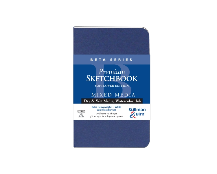 301350P Stillman & Birn Beta Series - Mixed Media Sketchbook - Softcover