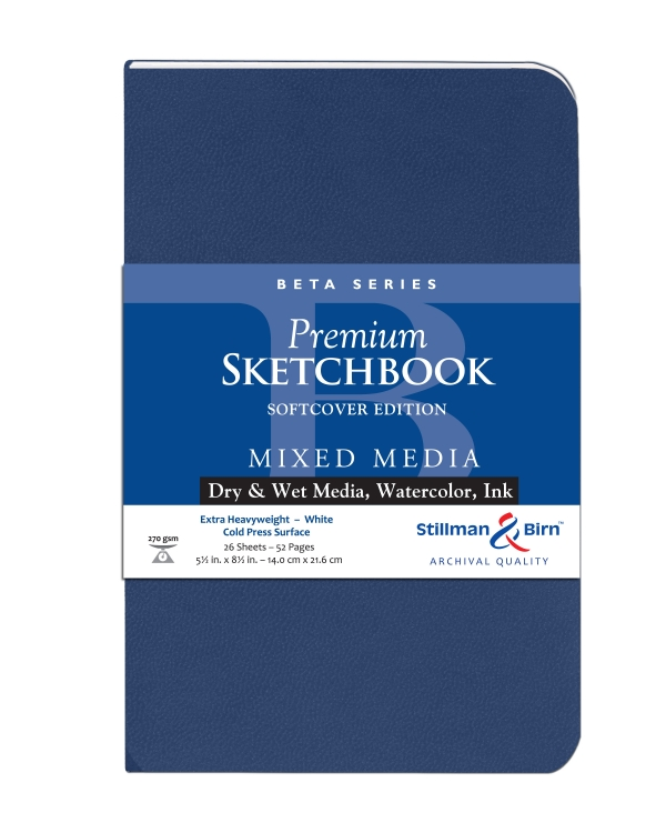 301580P Stillman & Birn Beta Series - Mixed Media Sketchbook - Softcover