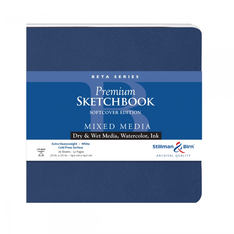 301750S Stillman & Birn Beta Series - Mixed Media Sketchbook - Softcover