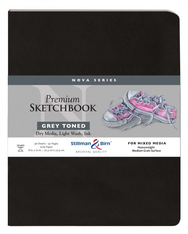 492810P Stillman & Birn Nova Mixed Media Sketchbook - Softcover/Grey