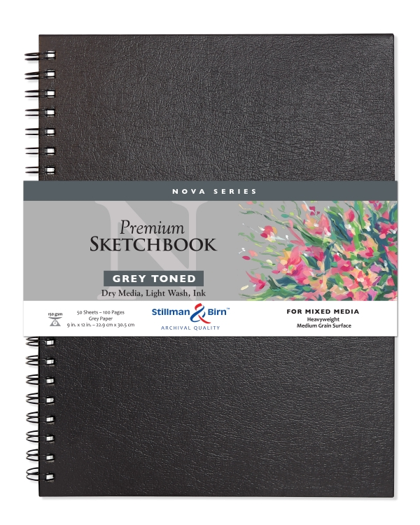 492912 Stillman & Birn Nova Mixed Media Sketchbook - Wirebound/Grey