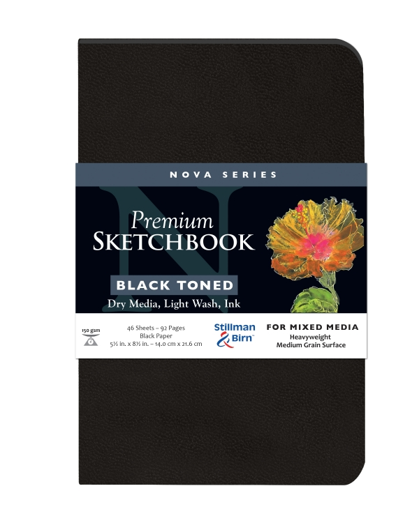 593580P Stillman & Birn Nova Mixed Media Sketchbook - Softcover/Black