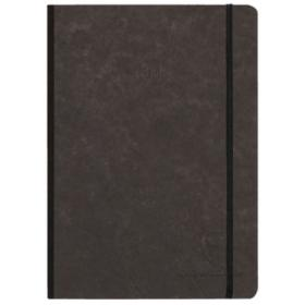 795431 Clairefontaine Life unplugged Clothbound Notebook w/ Elastic Closure - Dot 96 Sheets 6 x 8 1/4 - Black