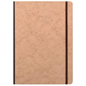 79543 Clairefontaine Life unplugged Clothbound Notebook w/ Elastic Closure - Dot 96 Sheets 6 x 8 1/4 - Tan