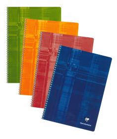 68141 - 68142 - 68145 Clairefontaine Classic Wirebound Notebook - Assorted colors