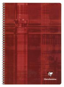 68141 - 68142 - 68145 Clairefontaine Classic Wirebound Notebook - Red