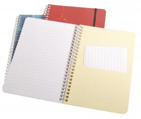 68566 Clairefontaine Wirebound Notebook - Ruled w/ elastic closure