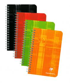 8606 Clairefontaine Wirebound Notebooks - Ruled 4 ¼ x 6 ¾  - Assorted colors