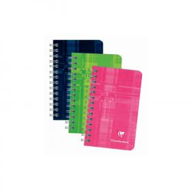 8586 Clairefontaine Classic Wirebound Notebook - Assorted colors