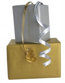 95796 Clairefontaine Kraft Papers - Gold & Silver