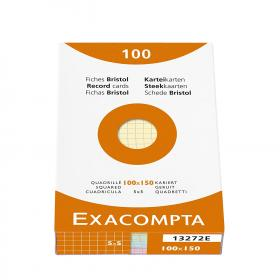 13272 Exacompta Index Cards - Graph 100 cards