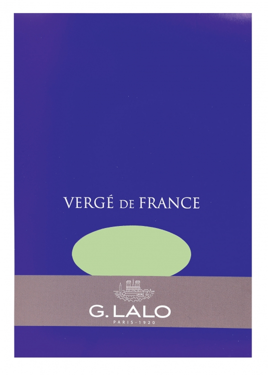 "114/03 G. Lalo ""Vergé de France"" Tablet - Pistachio"