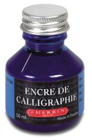 H114/10 Herbin Calligraphy Ink - Blue