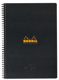 193419 Rhodia Black Meeting Book - Front