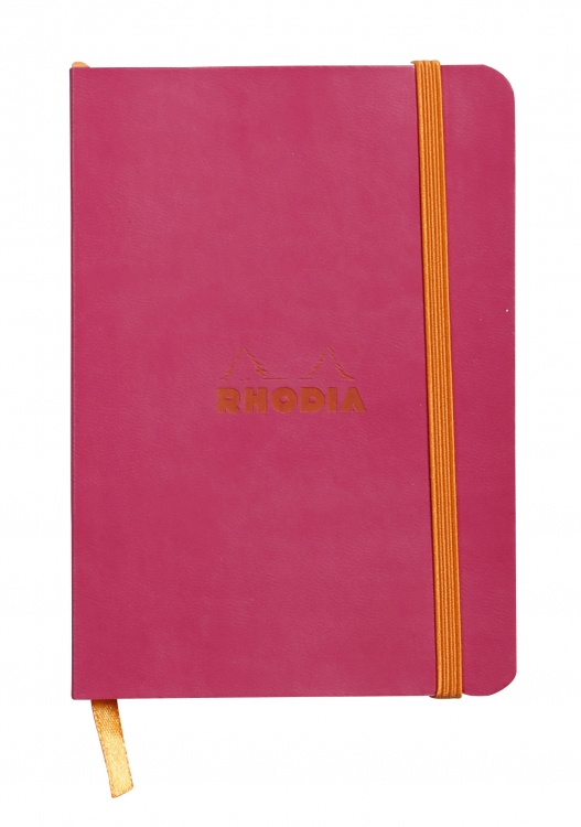 1173/12, 1173/62 Rhodiarama Softcover Notebooks - Rasberry
