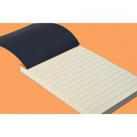 "122011 ""R"" Premium Orange Stapled Notepads - Opened"