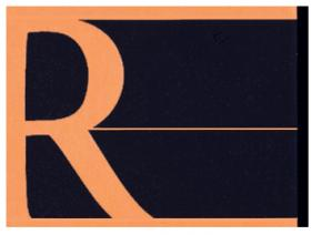 r by rhodia logo black