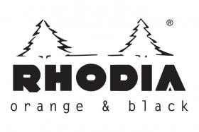 rhodia black and orange logo