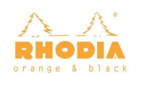 rhodia black and orange orange logo