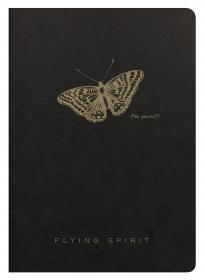 102536 Clairefontaine Flying Spirit Notebook - Black Cover